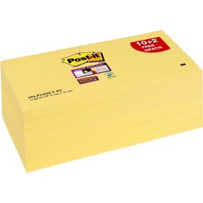 Post-it Super Sticky Notes 76 x 76 mm, 12 blokke