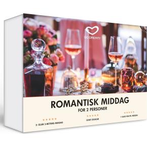 Oplevelsesgave - Romantisk middag for 2