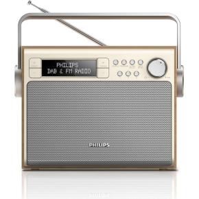 Philips AE5020 transportabel DAB+/FM radio, ahorn