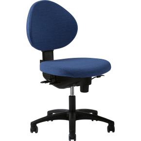 RBM 576 kontorstol, blå, standard gas