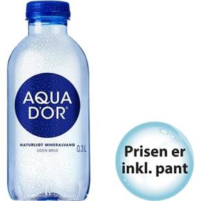Aqua d'or kildevand 0,30 l. inkl. pant