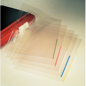 Esselte signallomme A4, PP, top+højre, 100stk, blå