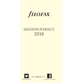 Filofax Refill Personal Månedsoversigt, 2017