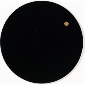 NAGA magnetisk cirkel glastavle, 25 cm, sort
