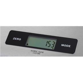 NordicHome Culture køkkenvægt i stål, max 5kg.