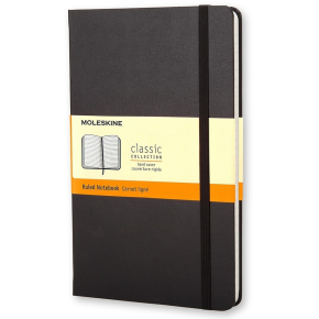 Moleskine Clas. Hard Notesbog Large, linj., sort