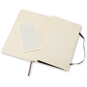 Moleskine Clas. Soft Notesbog Large, blank, sort