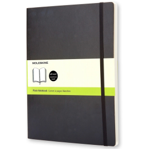 Moleskine Clas. Soft Notesbog XL, blank, sort
