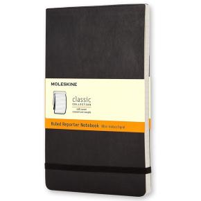 Moleskine Rep. Soft Notesbog Large, linjeret, sort