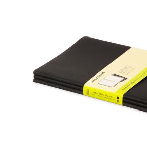 Moleskine Cah. Notesbog Large, blank, sort, 3 stk.