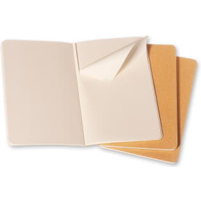 Moleskine Cah. Notesbog Pocket, blank, kraft, 3stk