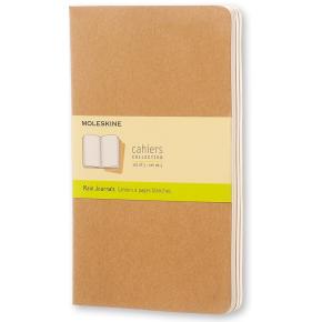 Moleskine Cah. Notesbog Large, blank, kraft, 3 stk