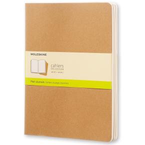 Moleskine Cah. Notesbog XL, blank, kraft, 3 stk.