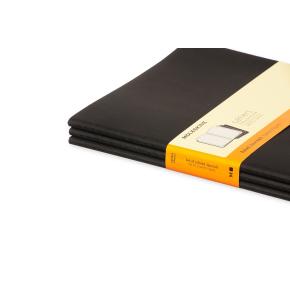 Moleskine Cah. Notesbog XL, linjeret, sort, 3 stk.