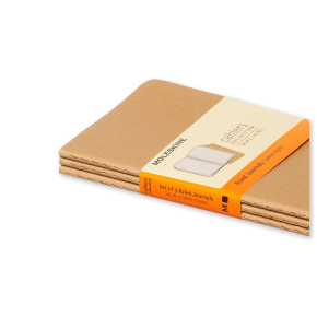 Moleskine Cah. Notesbog Pocket, linj., kraft, 3stk