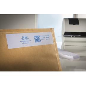 Avery 43-065 frank.etiketter, 38 x 135mm, 1000stk