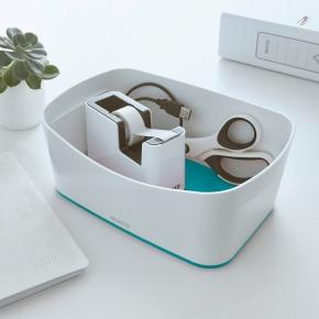 Leitz MyBox Opbevaringsbakke, hvid/grå