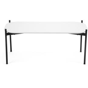 Ziggy loung/sofabord, 50x100x40 cm, hvid laminat