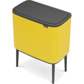 Brabantia BO Touch Bin 3x11 L, daisy yellow