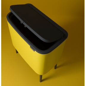 Brabantia BO Touch Bin 36 L, daisy yellow