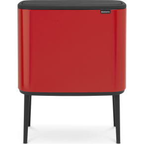 Brabantia BO Touch Bin 3x11 L, passion red