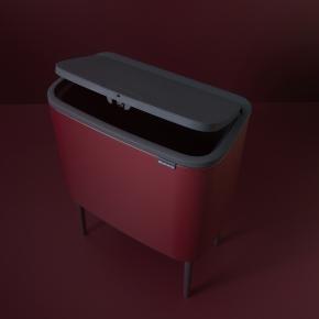 Brabantia BO Touch Bin 11+23 L, windsor red