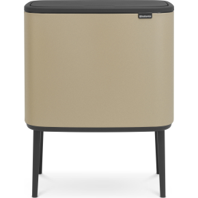 Brabantia BO Touch Bin 11+23 L, golden beach
