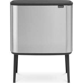 Brabantia BO Touch Bin 3x11 L, matt steel FPP