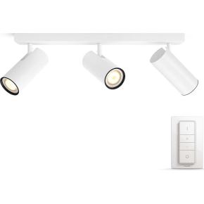 Philips HUE Buratto 3 x GU10 spot, hvid + kontakt