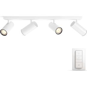 Philips HUE Buratto 4 x GU10 spot, hvid + kontakt