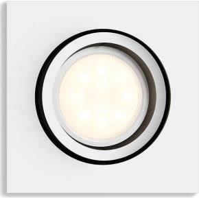 Philips HUE Milliskin GU10 firkantet spotlys, hvid