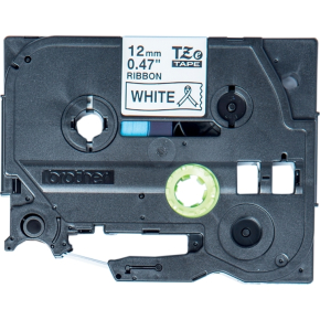Brother TZe-R231 sort tekst på hvidt højglans bånd