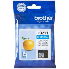 Brother LC3211 blækpatroner, cyan, 200s