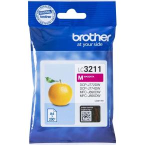 Brother LC3211 blækpatroner, magenta, 200s