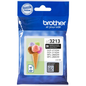 Brother LC3213 blækpatroner, sort, 400s