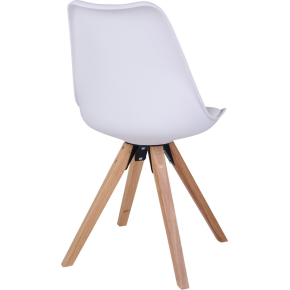 Bergen spisebordsstol, hvid m. træben
