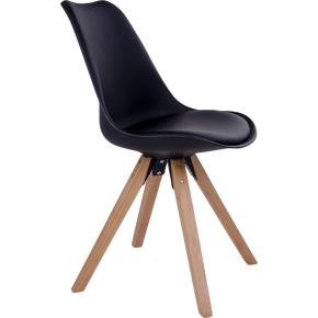 Bergen spisebordsstol, sort m. træben