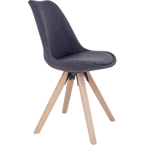 Bergen spisebordsstol, mørkegrå m. træben