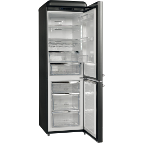 Scandomestic RKB 301 A++ køle-fryseskab, mat sort