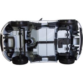 El-drevet Maserati Alfieri bil 12V, sølv