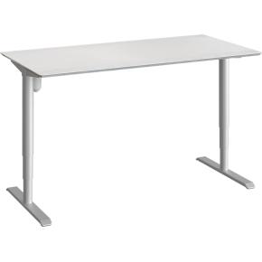 Cayenne hæve/sænkebord, hvid laminat/alu 160x90 cm