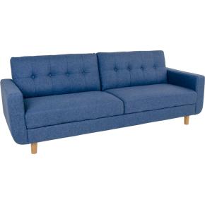 Uranus 3 personers sofa, blå m. træben
