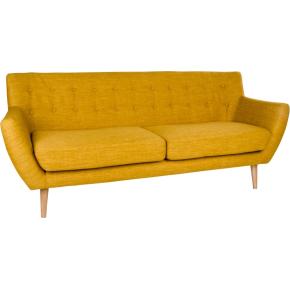 Jupiter 3 personers sofa, karry m. træben