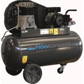 Flowconcept kompressor 90 l., olieholdig, 3 Hp