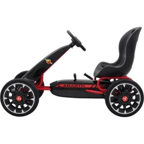 Abarth pedal-GoKart med gummidæk, sort