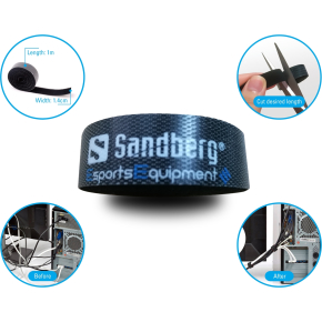 Sandberg kabelstrap velcro 5-pack, Sort