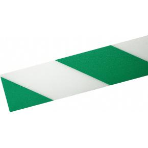 Gulv advarselstape, grøn/hvid, Duraline strong
