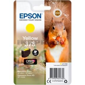Epson T378 blækpatron, gul, 4.1 ml
