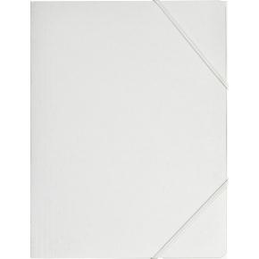 Budget elastikmappe, karton, hvid