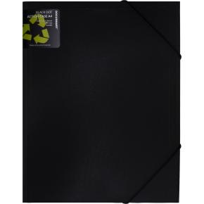 DocuSmart Luksus elastikmappe A4, PP, sort